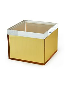 BOX LUCITE SQUARE GOLD SM