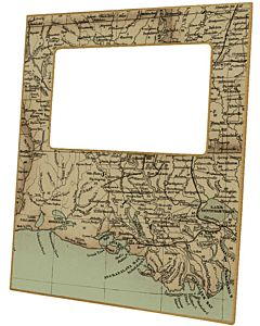 FRAME LOUISIANA MAP