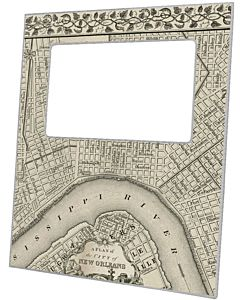 FRAME NEW ORLEANS MAP