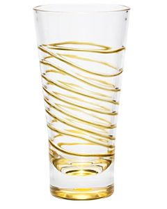 GLASS ACRYLIC GOLD SWIRL 18OZ.