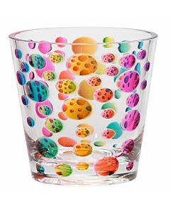 GLASS ACRYLIC RAINBOW DOTS SM