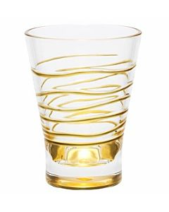 GLASS ACRILIC DOF GOLD SWIRL 12oz