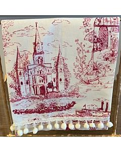 GUEST TOWEL NOLA TOILE in CLARET