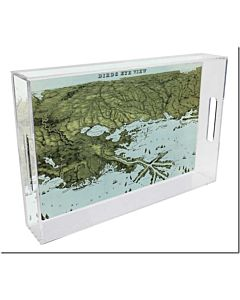 TRAY LUCITE BIRDS EYE VIEW MAP 8.5X11