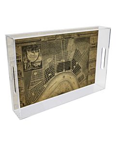 TRAY LUCITE PLAN DE NEW ORLEANS 12 INCH SQUARE